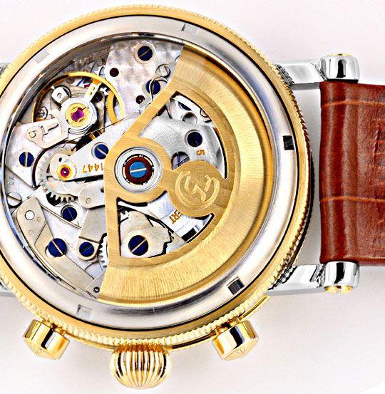 Foto 5, Chronoswiss Chronometer Chronograph Stahlgold Hr Topuhr, U1337
