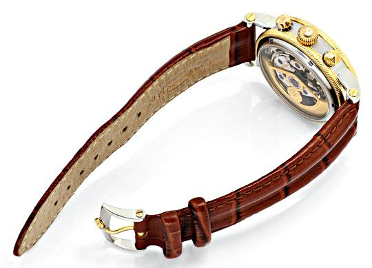 Foto 6, Chronoswiss Chronometer Chronograph Stahlgold Hr Topuhr, U1337