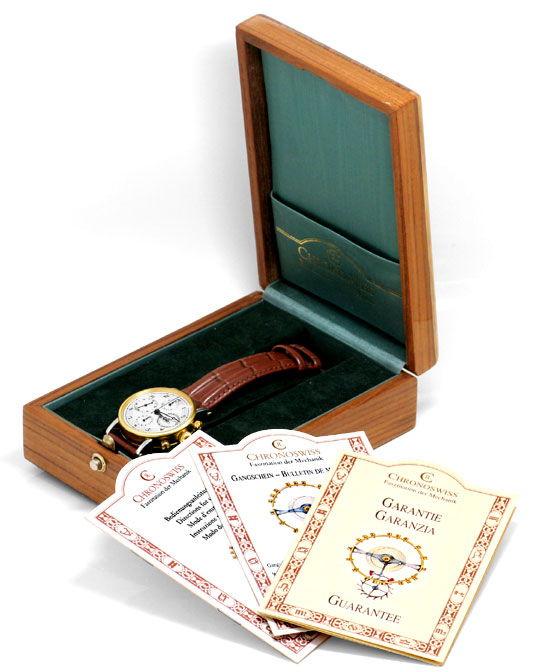 Foto 8, Chronoswiss Chronometer Chronograph Stahlgold Hr Topuhr, U1337