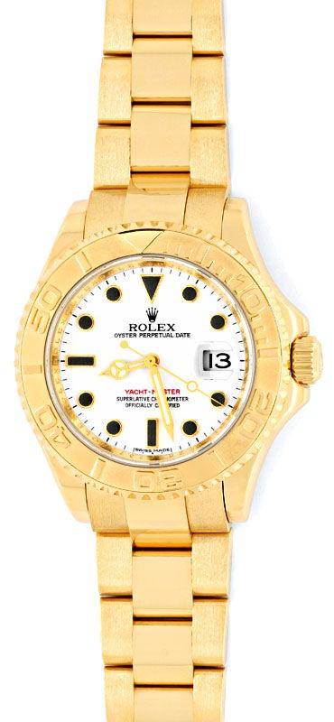 Foto 2, Rolex Yachtmaster Date 40mm Gelbgold Ungetragen Geprüft, U1338