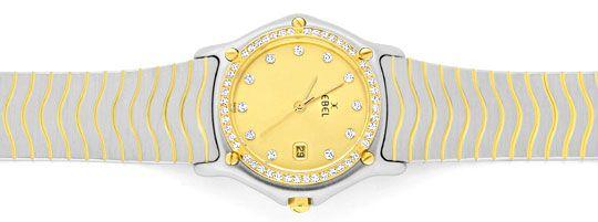 Foto 1, Ebel Junior Sport Classic Stahlgold 59 Diamanten Topuhr, U1347