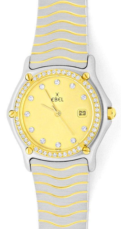 Foto 2, Ebel Junior Sport Classic Stahlgold 59 Diamanten Topuhr, U1347