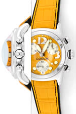 UNGETRAGENE Orange Corum Bubble Chronograph Uhr XXL