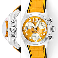 zum Artikel UNGETRAGENE Orange Corum Bubble Chronograph Uhr XXL, U1348