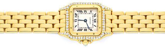 Foto 1, Cartier Panthere Damen Gold Org.Diamant Gehäuse Geprüft, U1349