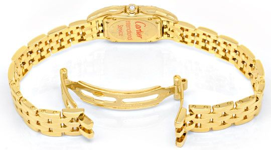 Foto 5, Cartier Panthere Damen Gold Org.Diamant Gehäuse Geprüft, U1349