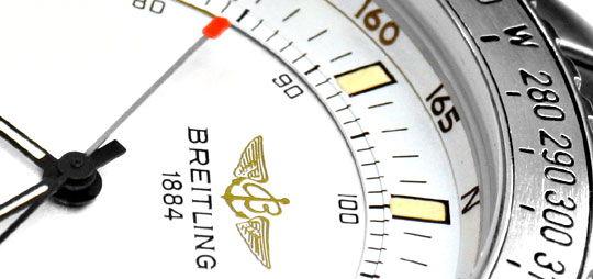 Foto 3, Breitling, New Pluton Intruder Chronograph Alarm Topuhr, U1360