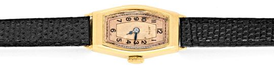 Foto 1, Original antike Damen Armbanduhr Berg 14K Gelbgold Shop, U1361