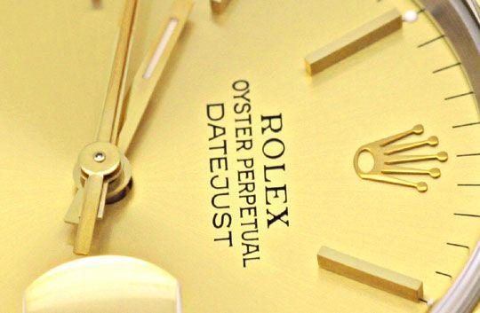 Foto 3, Rolex Datejust Herrenarmbanduhr Stahlgold Jubile Topuhr, U1362