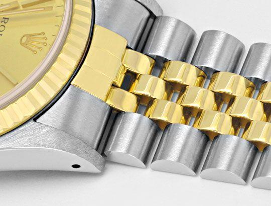 Foto 4, Rolex Datejust Herrenarmbanduhr Stahlgold Jubile Topuhr, U1362