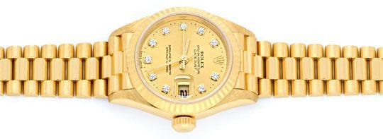 Foto 1, Rolex Lady Datejust Gold, Diamanten, Neuzustand Geprüft, U1363