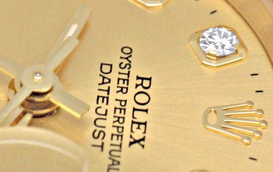 Foto 3, Rolex Lady Datejust Gold, Diamanten, Neuzustand Geprüft, U1363