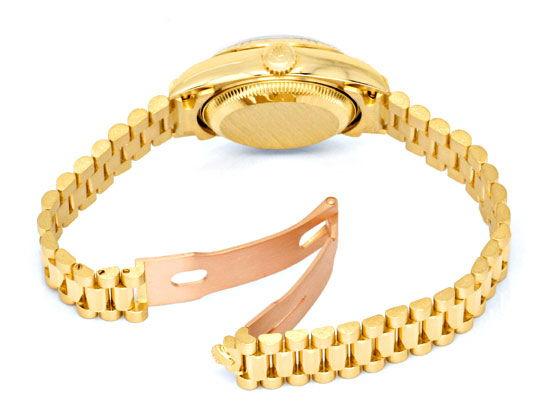Foto 5, Rolex Lady Datejust Gold, Diamanten, Neuzustand Geprüft, U1363