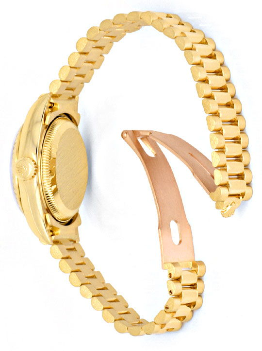 Foto 6, Rolex Lady Datejust Gold, Diamanten, Neuzustand Geprüft, U1363