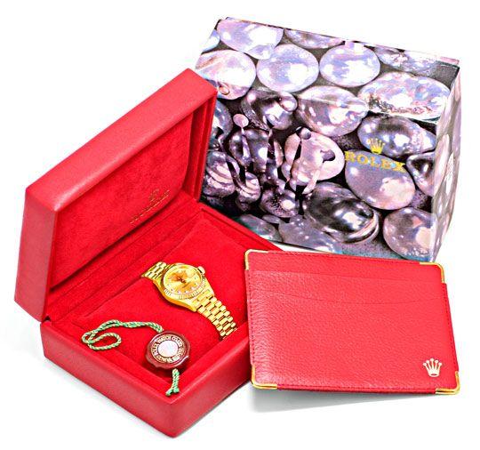 Foto 8, Rolex Lady Datejust Gold, Diamanten, Neuzustand Geprüft, U1363