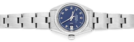 Foto 1, Rolex Date Damen Uhr Edelstahl Weiss Gold Oyster Topuhr, U1364