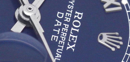 Foto 3, Rolex Date Damen Uhr Edelstahl Weiss Gold Oyster Topuhr, U1364