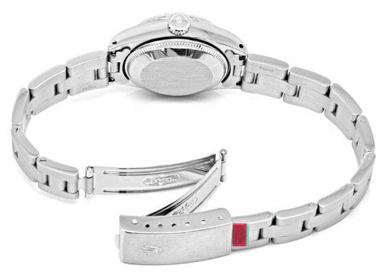 Foto 5, Rolex Date Damen-Uhr Edelstahl Weiss-Gold Oyster Topuhr, U1364
