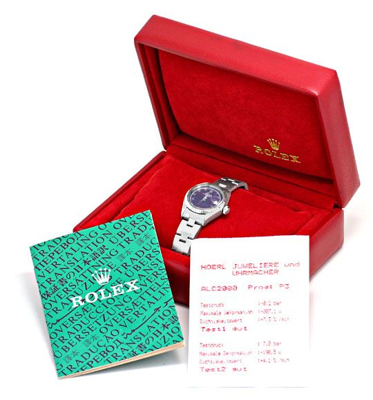 Foto 6, Rolex Date Damen-Uhr Edelstahl Weiss-Gold Oyster Topuhr, U1364