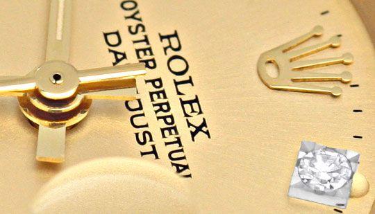Foto 3, Damen Diamant Gold Rolex Oyster Perpetual Date, Geprüft, U1366