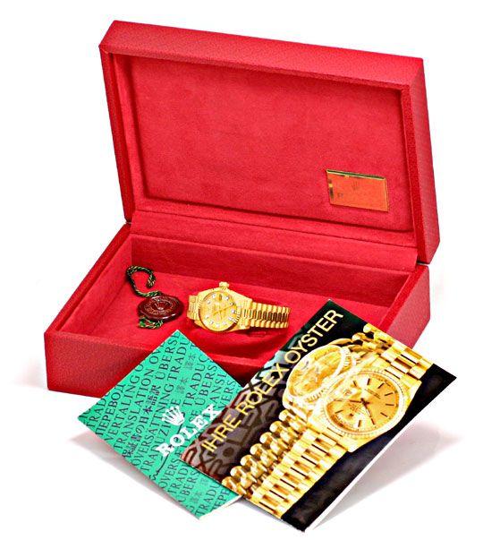 Foto 6, Damen Diamant Gold Rolex Oyster Perpetual Date, Geprüft, U1366