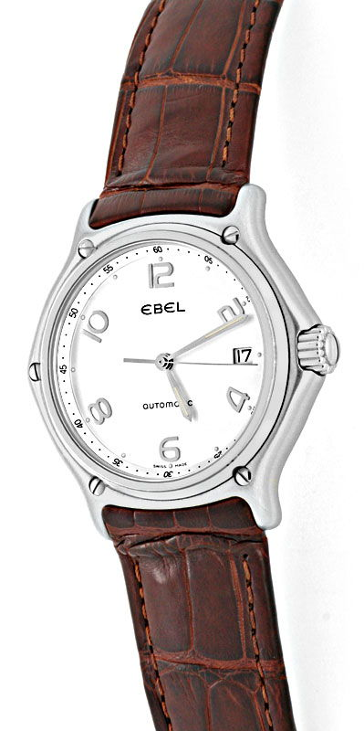 Foto 2, Ebel 1911 Senior Automatik Herren Uhr, Alligator Topuhr, U1367
