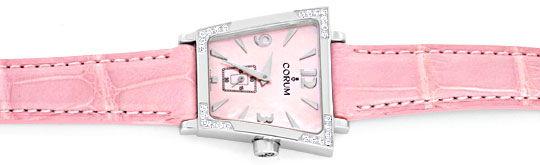 Foto 1, Corum Trapez Diamanten, Rosa Perlmutt Ungetragen Topuhr, U1376