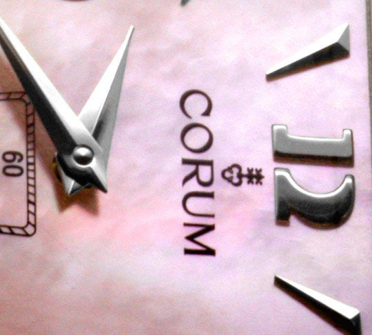 Foto 4, Corum Trapez Diamanten, Rosa Perlmutt Ungetragen Topuhr, U1376