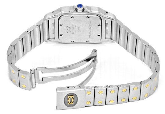 Foto 5, Cartier Santos Galbee Uhr Herren Armband Uhr Stahl Gold, U1384