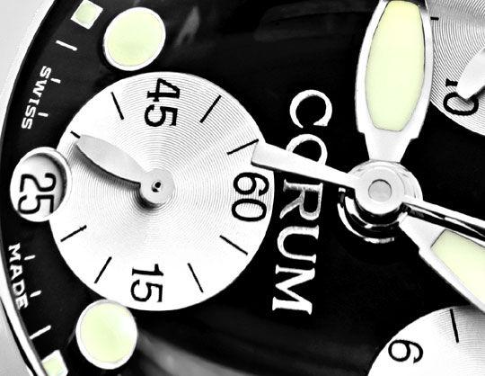 Foto 3, Corum XXL Hr Bubble Chronograph Stahl Ungetragen Topuhr, U1386