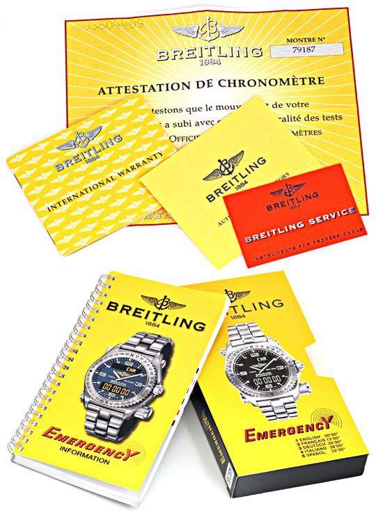 Foto 8, Breitling Emercency Professional in 18K Gelbgold, 276Gr, U1390