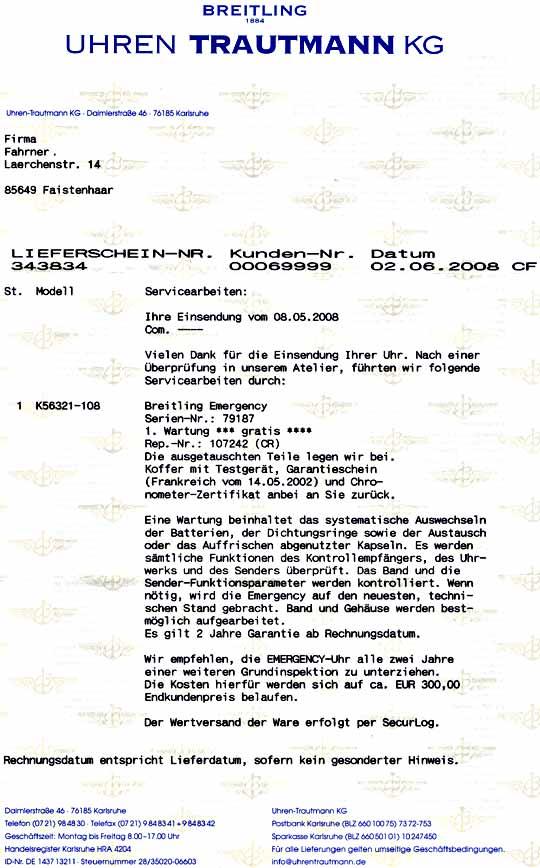 Foto 9, Breitling Emercency Professional in 18K Gelbgold, 276Gr, U1390