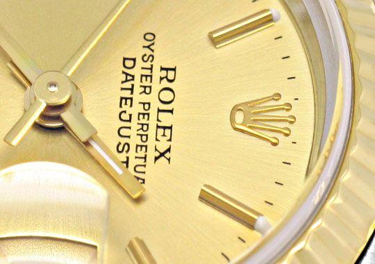 Foto 3, Rolex Lady Datejust, Rolex Damen Armband Uhr Stahl Gold, U1406