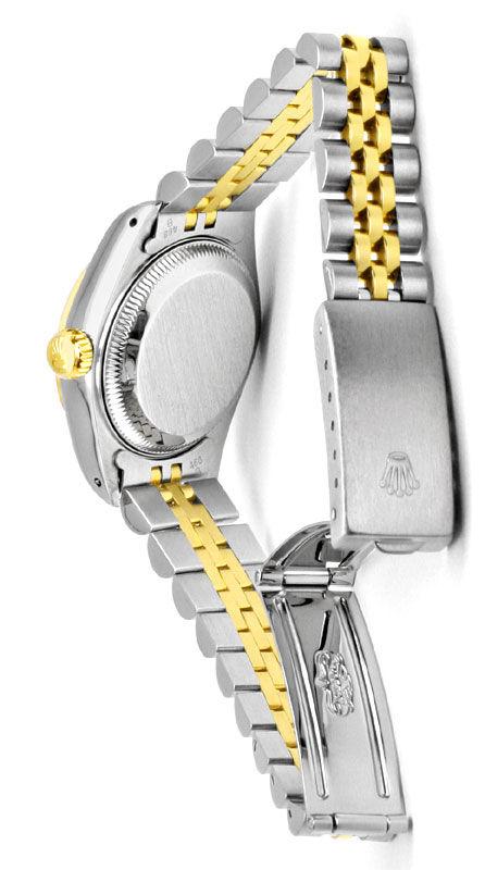 Foto 5, Rolex Lady Datejust, Rolex Damen Armband Uhr Stahl Gold, U1406
