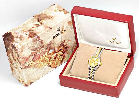 Foto 6, Rolex Lady Datejust, Rolex Damen Armband Uhr Stahl Gold, U1406