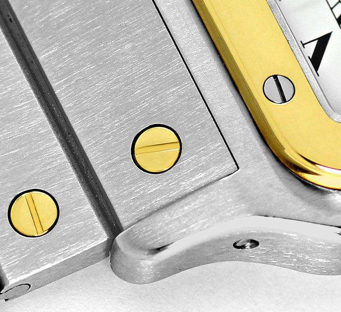Foto 3, Cartier Santos Automatik, Stahlgold, Herren, Neuzustand, U1417