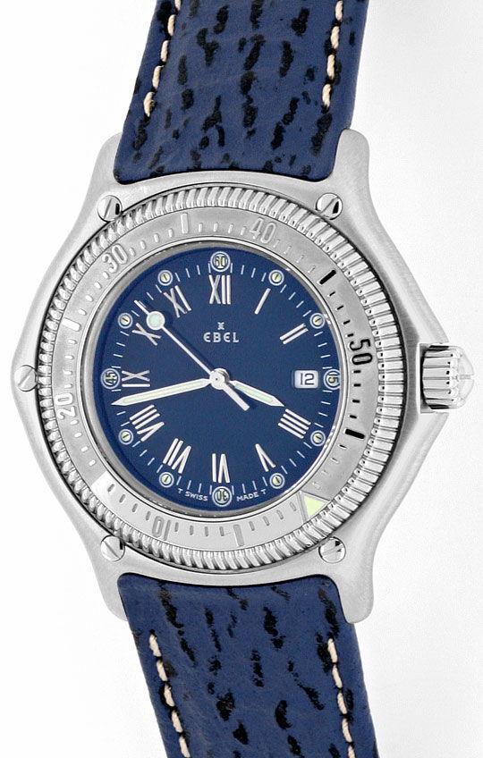Foto 2, Ebel Discovery Herren Uhr Stahl Haifischband Ungetragen, U1425