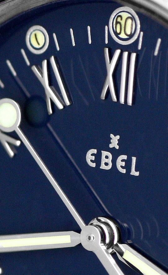 Foto 3, Ebel Discovery Herren Uhr Stahl Haifischband Ungetragen, U1425
