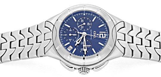 Foto 1, Ebel E Type Chronograph Chronometer Automatik ST Topuhr, U1427