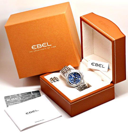 Foto 9, Ebel E Type Chronograph Chronometer Automatik ST Topuhr, U1427