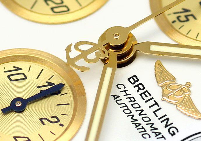 Foto 3, Breitling Chronomat Hr Stahl Gold Pilot Band Neuzustand, U1435