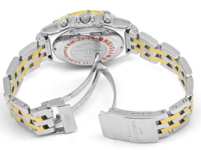 Foto 5, Breitling Chronomat Hr Stahl Gold Pilot Band Neuzustand, U1435