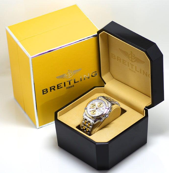 Foto 6, Breitling Chronomat Hr Stahl Gold Pilot Band Neuzustand, U1435