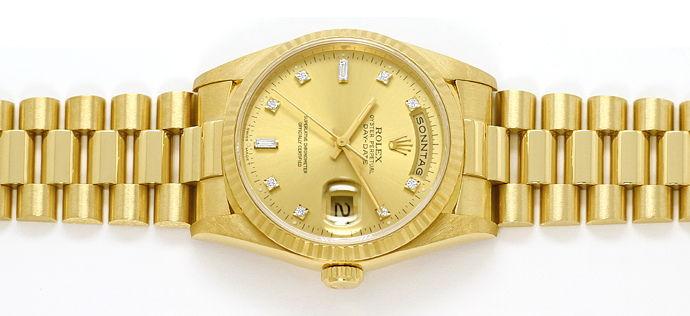 Foto 1, Rolex Daydate Gelbgold Diamantzifferblatt im Neuzustand, U1437