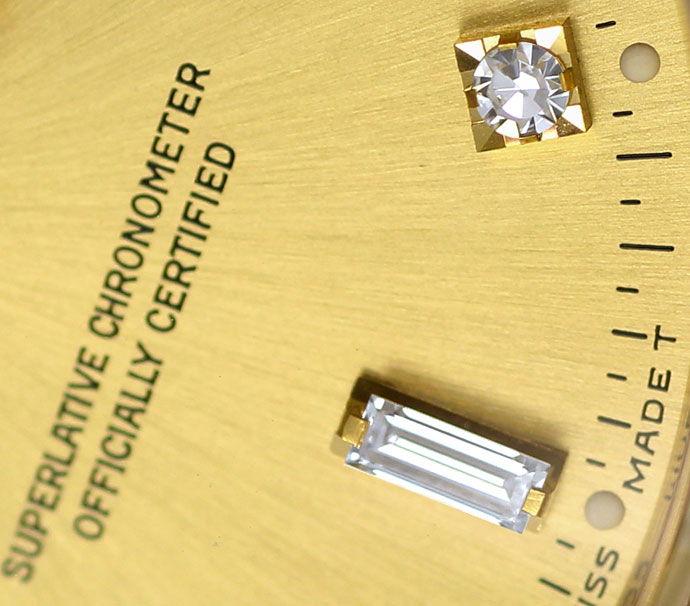 Foto 4, Rolex Daydate Gelbgold Diamantzifferblatt im Neuzustand, U1437