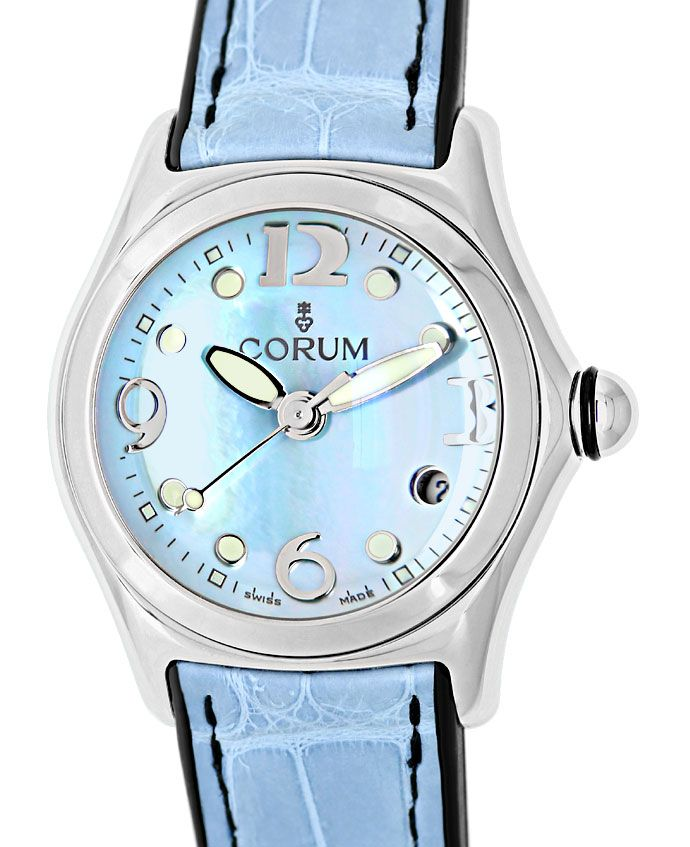 Foto 2 - Corum Bubble Medium Uhr mit Perlmutt ungetragen mit Box, U1441