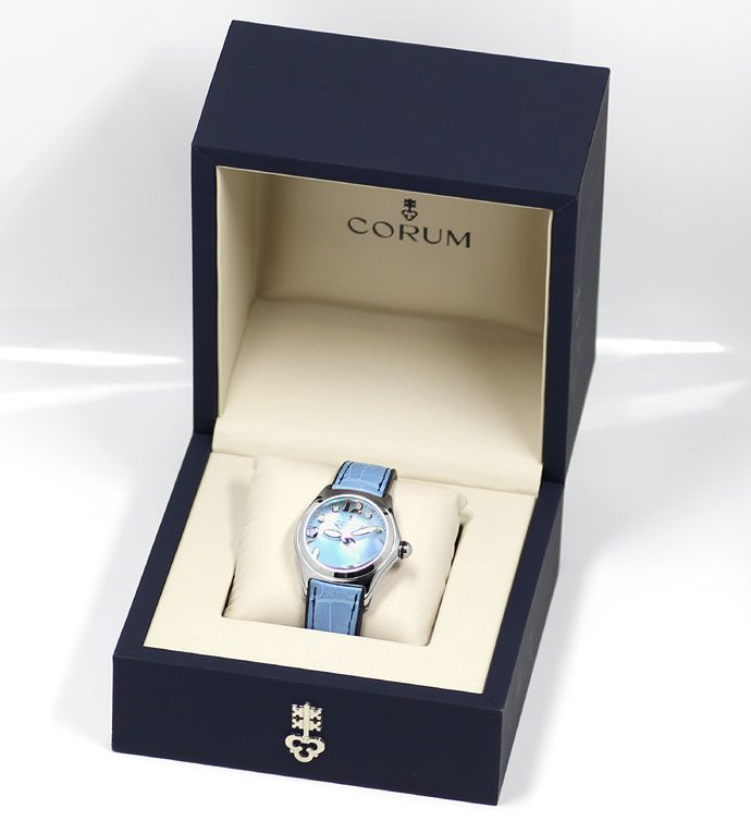 Foto 6 - Corum Bubble Medium Uhr mit Perlmutt ungetragen mit Box, U1441