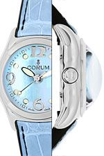 Corum Bubble Medium-Uhr mit Perlmutt ungetragen mit Box