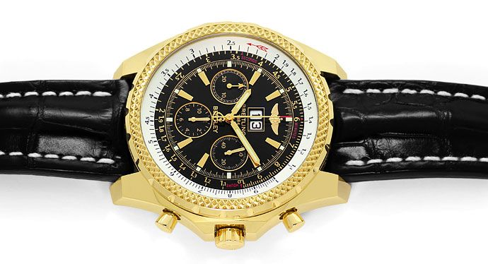 Foto 1, Breitling For Bentley 6.75 Herrenuhr in Gold Ungetragen, U1452