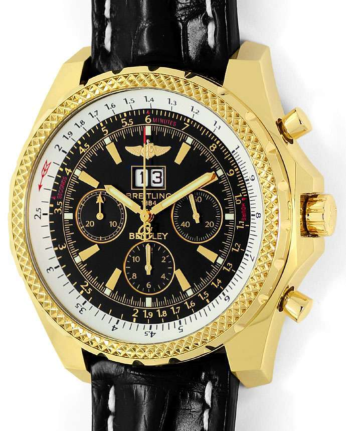 Foto 2, Breitling For Bentley 6.75 Herrenuhr in Gold Ungetragen, U1452